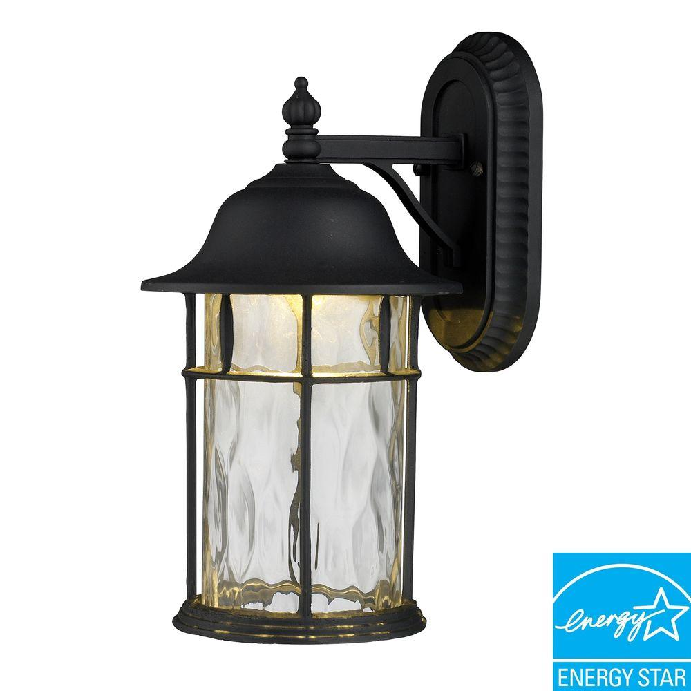 Titan Lighting Lapuente Matte Black Outdoor LED Wall Sconce