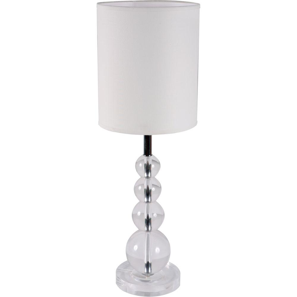 Yosemite Home Decor Portable Lamp Series 22.5 in. White Table Lamp-DISCONTINUED