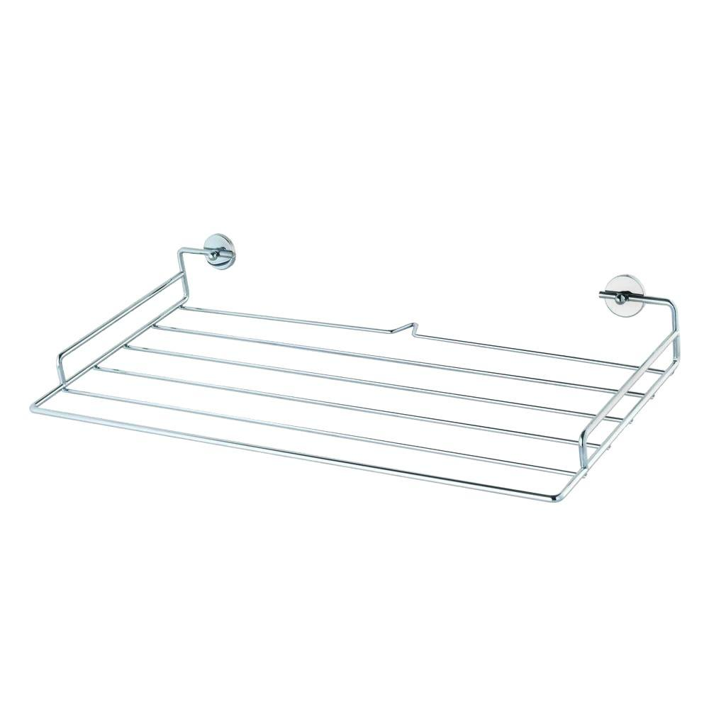 No Drilling Required Baath Plus 20 in. Towel Shelf in Chrome