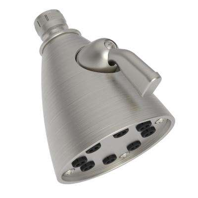 Tub and Shower 1-Function Shower Head in Satin Nickel