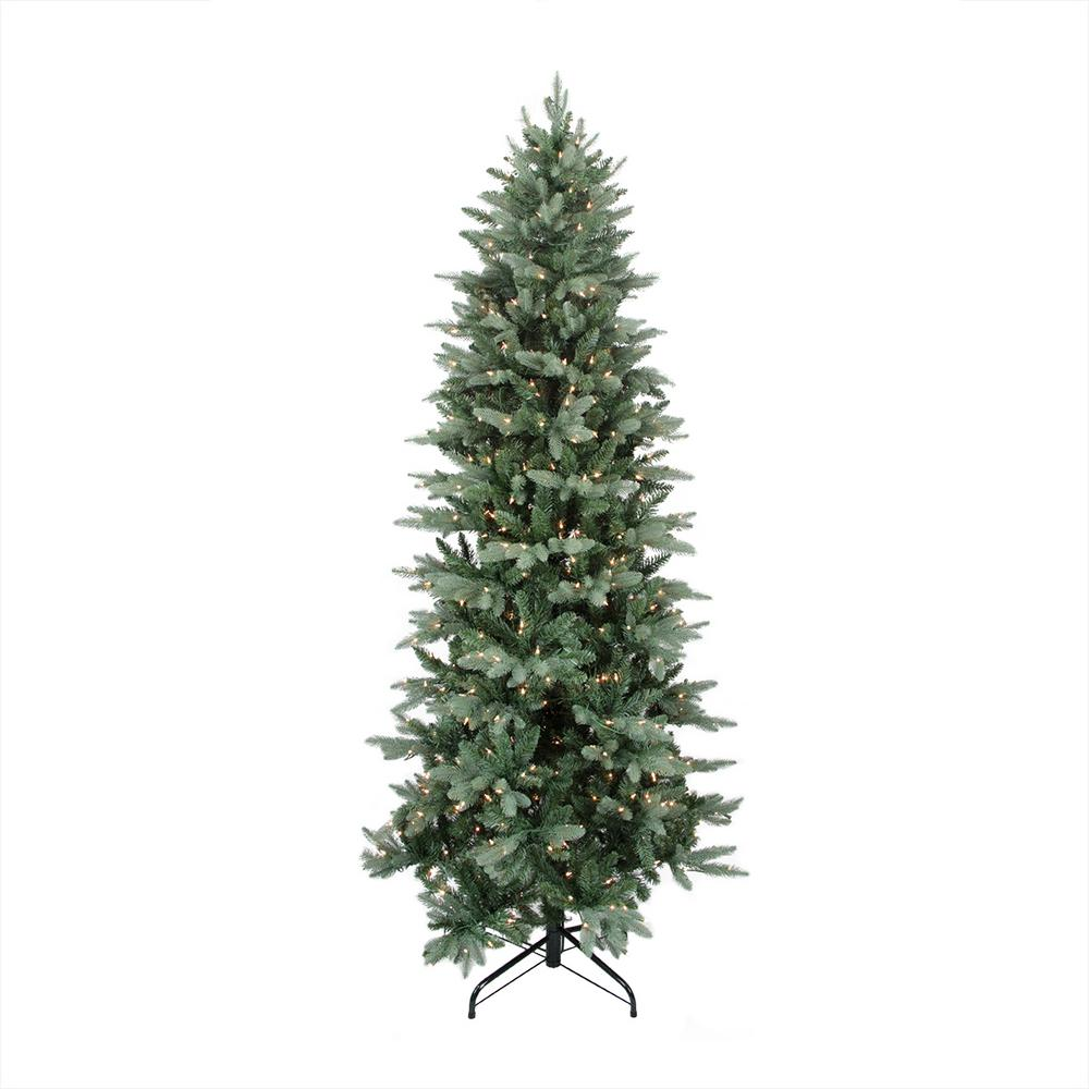 12 ft. x 62 in. Pre-Lit Washington Frasier Fir Slim Artificial Christmas  Tree Clear Lights
