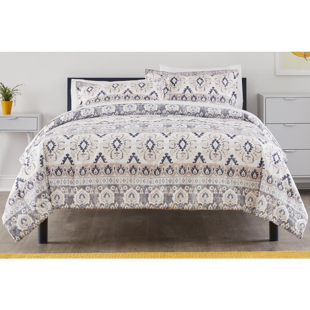 Manning 3-Piece Riverbed Stripe King Comforter Set