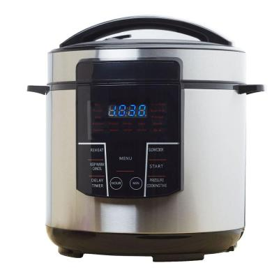 6 Qt. Black Stainless Steel Electric Pressure Cooker