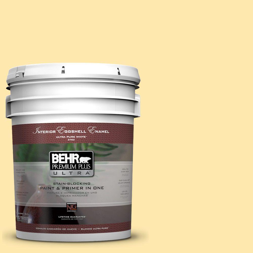BEHR Premium Plus Ultra 5 Gal. #P290 2 Sweet As Honey Eggshell