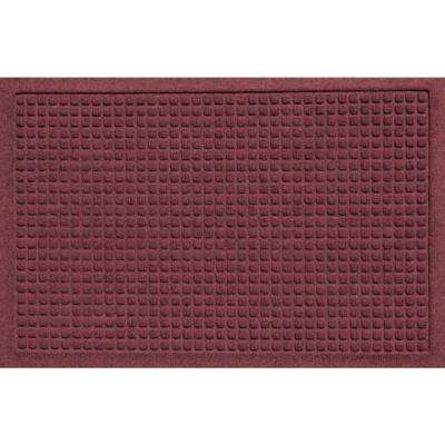 Aqua Shield Squares Bordeaux 17.5 in. x 26.5 in. Door Mat