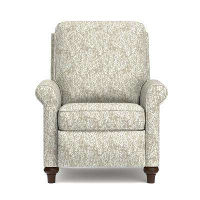 Taupe Coral Woven Fabric Push Back Recliner Chair