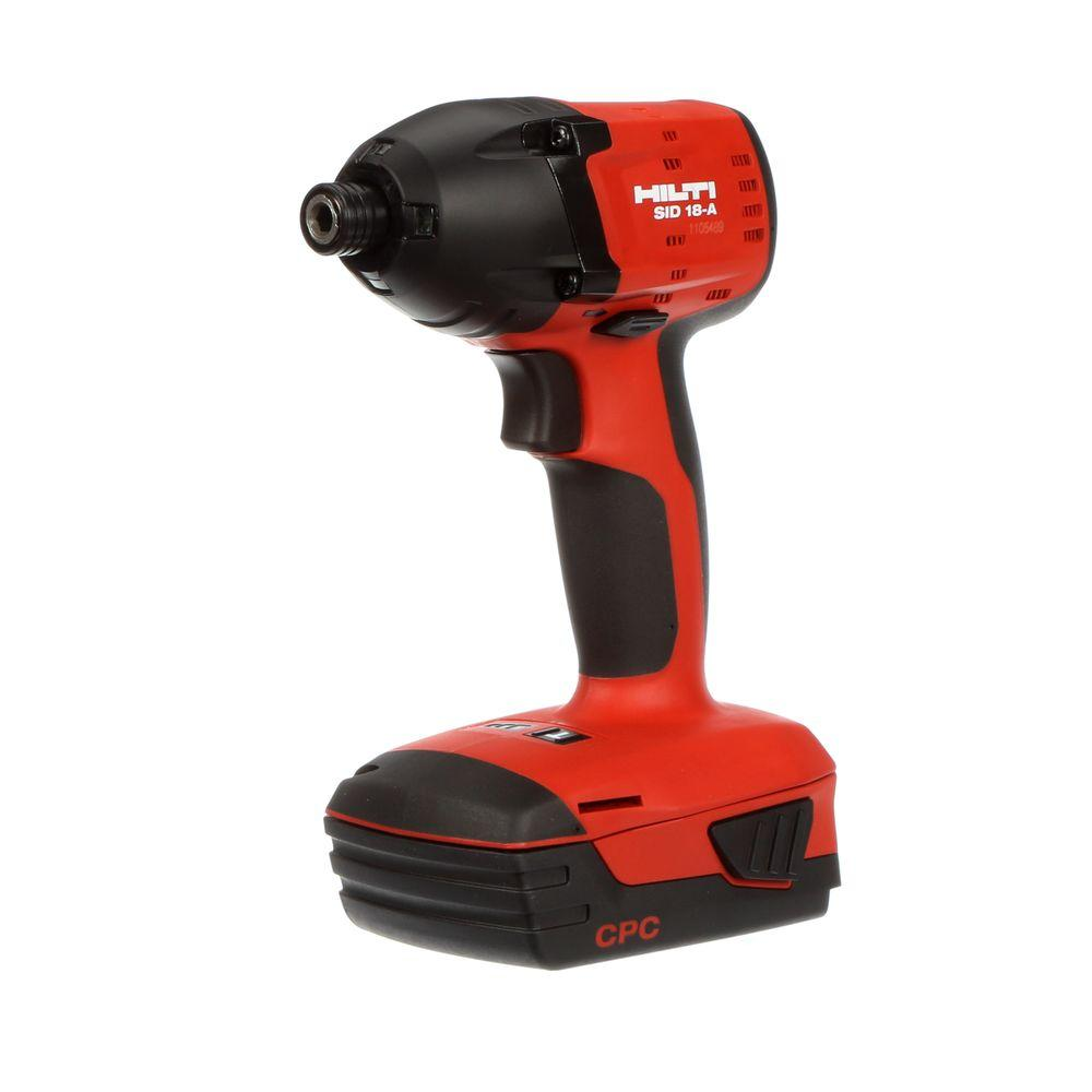 Hilti SID 18-Volt Lithium-Ion 1/4 in. Hex Cordless Compact Impact Driver
