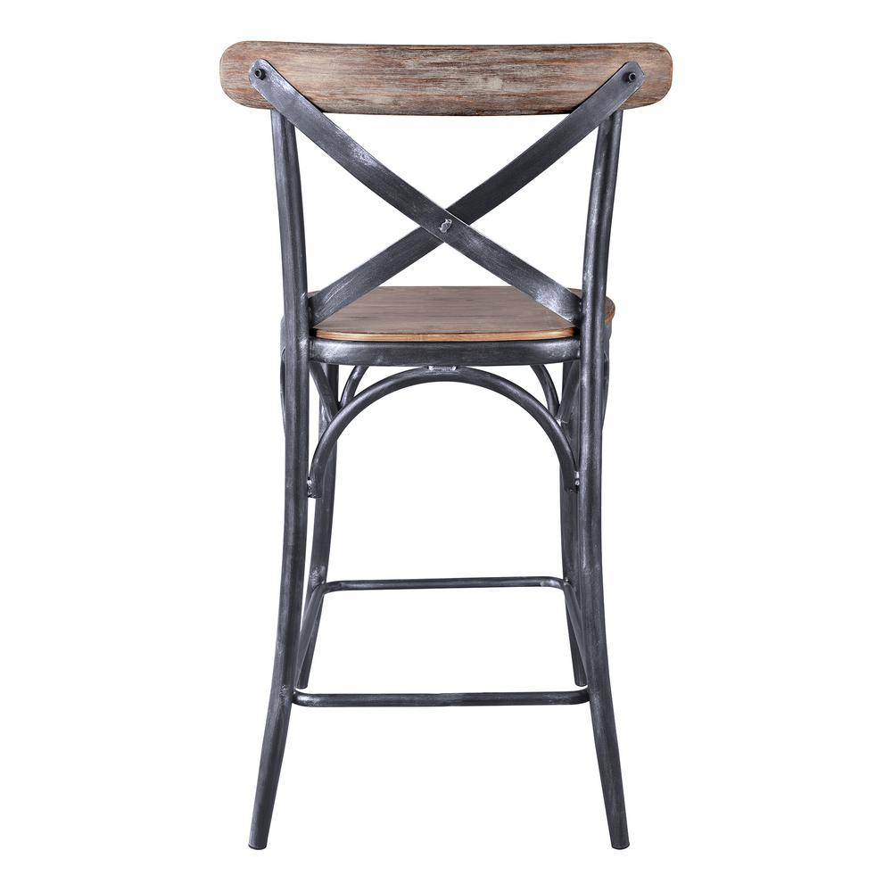 Armen Living Sloan 26 In Industrial Grey Bar Stool