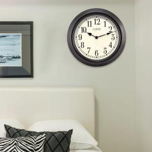 La Crosse Technology 15 inch H Round Brown Antique Analog Wall Clock by La Crosse Technology