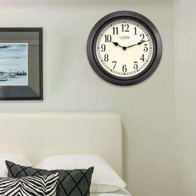 15 in. H Round Brown Antique Analog Wall Clock