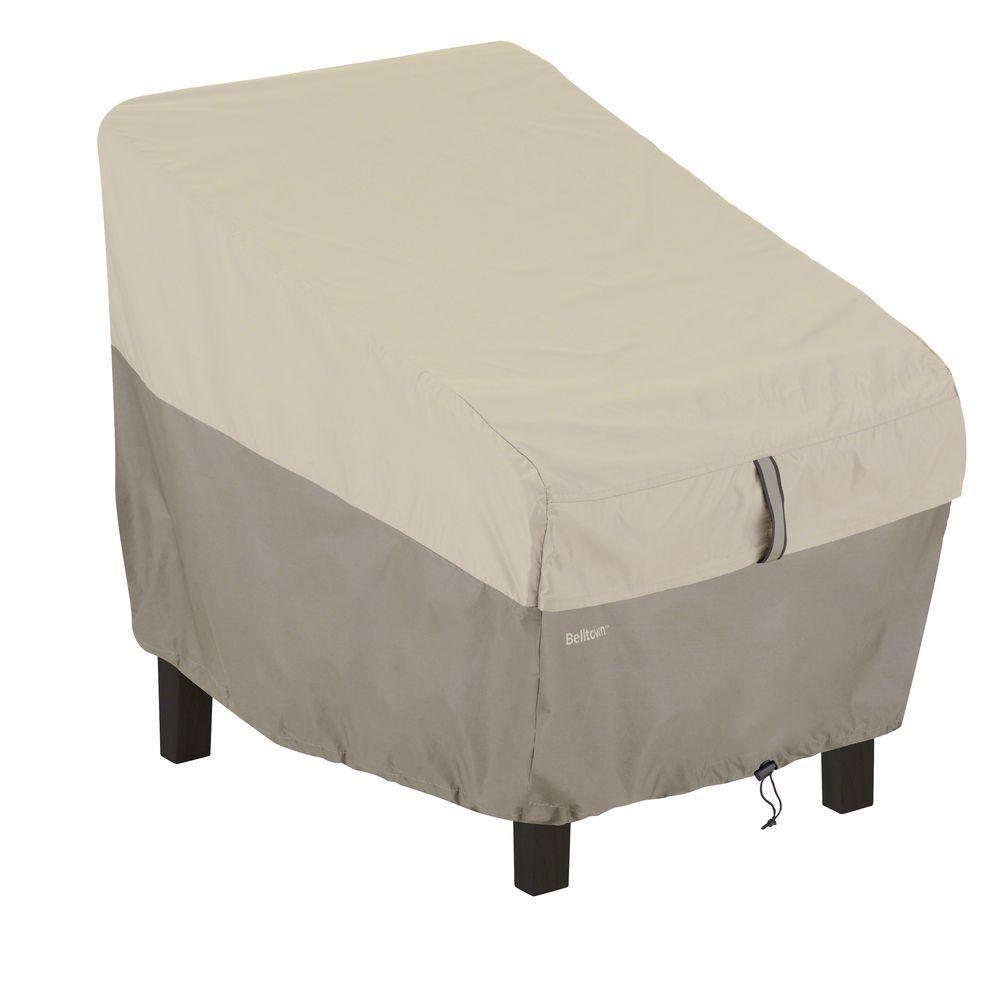Classic Accessories Belltown Sidewalk Grey High Back Patio Chair Cover