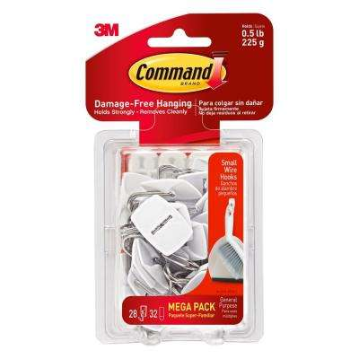 White Small Wire Hook (28-Hook/32-Strip per Pack)