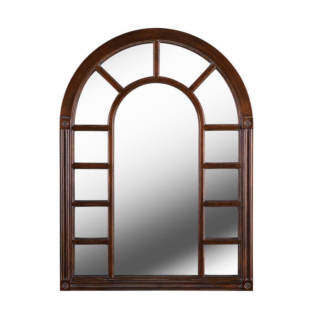 Medium Arch Bronze Classic Mirror (38 in. H x 28 in. W)