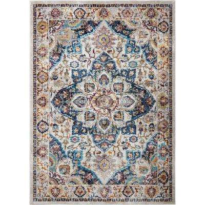 Parlin Selina Ivory/Navy 7 ft. 9 in. x 9 ft. 5 in. Indoor Area Rug