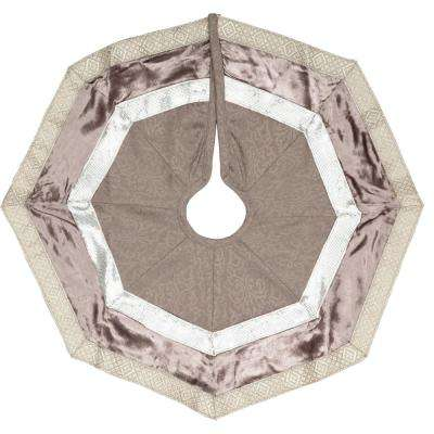 21 in. Allura Dove Grey Glam Christmas Decor Mini Tree Skirt
