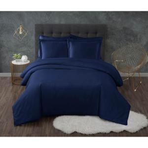 Antimicrobial 3-Piece Navy King Duvet Set