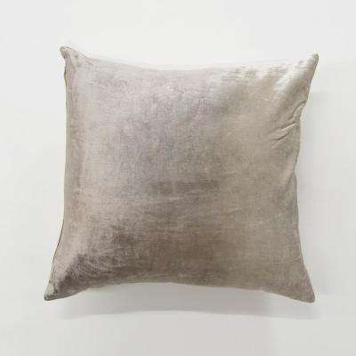 Ombre Taupe Velvet Pillow
