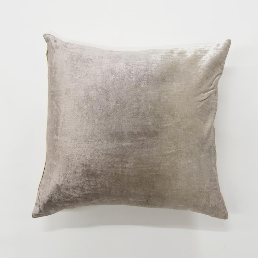 Ombre Taupe Velvet Pillow