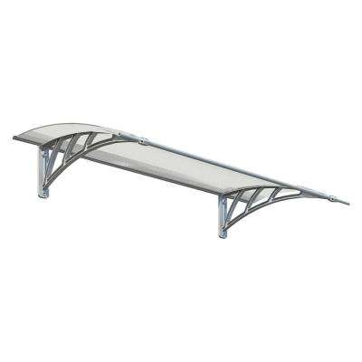 Neo 1350 Twin-Wall Polycarbonate Awning (12 in. H x 34 in. D)