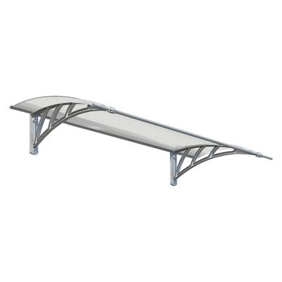 Neo 1350 4 ft. 6 in. Gray/Clear Twin-wall Door Canopy Awning