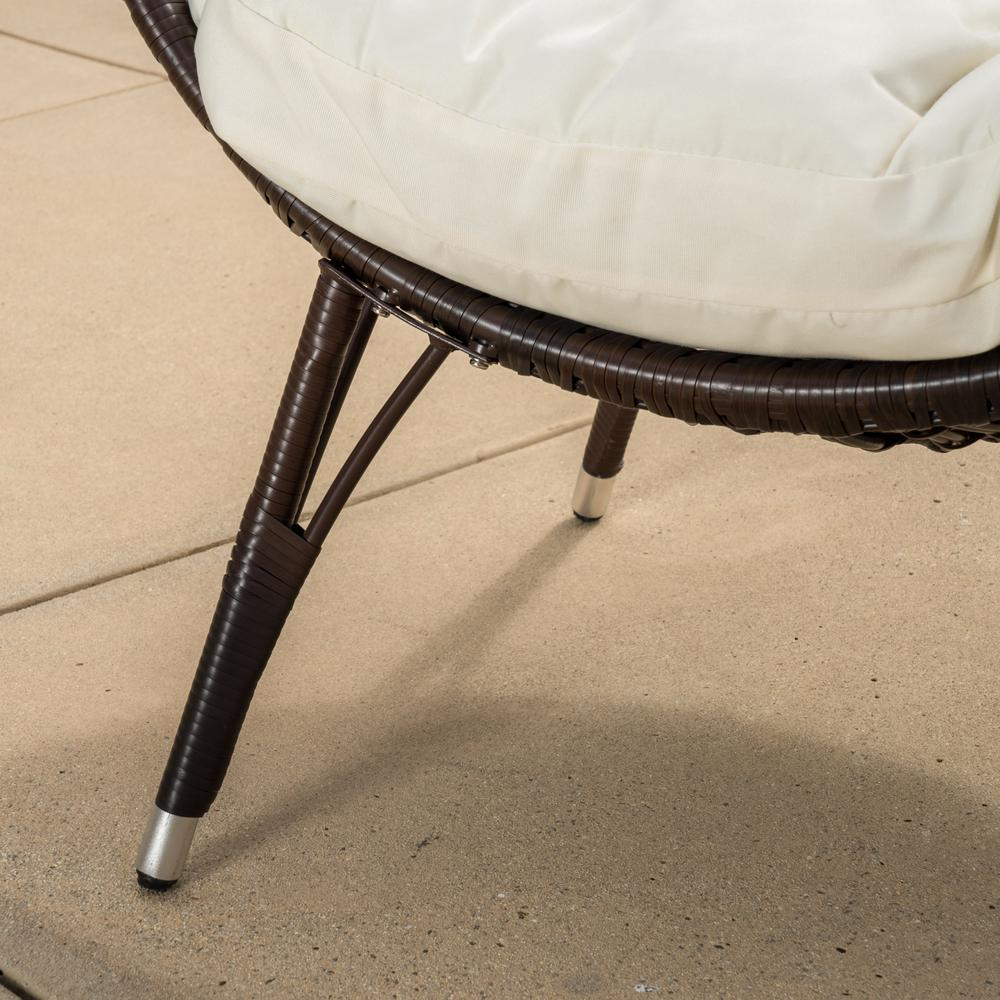 Brilliant Noble House Cutter Multi Brown Teardrop Wicker Outdoor Lounge Chair With Beige Cushion Ocoug Best Dining Table And Chair Ideas Images Ocougorg