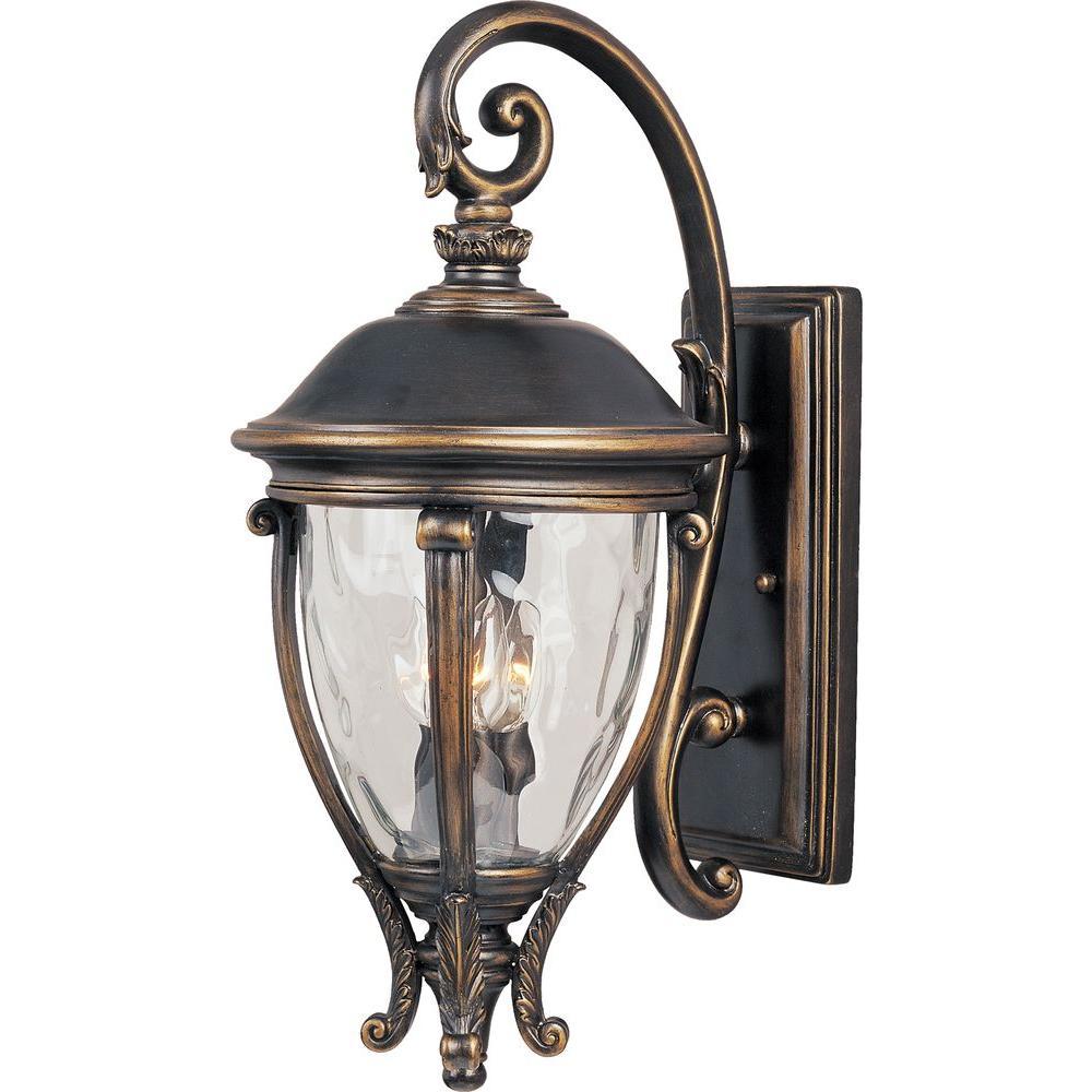 Maxim Lighting Camden Vivex 3-Light Golden Bronze Outdoor ... on Outdoor Wall Sconce Lighting id=61433