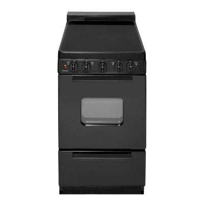 20 in. 2.42 cu. ft. Freestanding Smooth Top Electric Range in Black