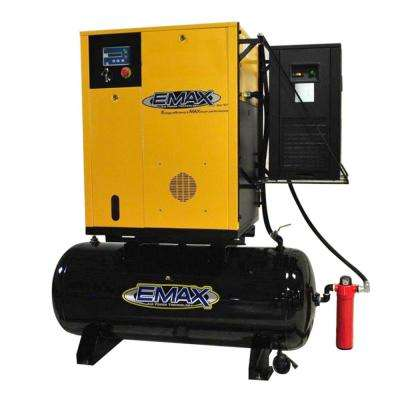 Premium Series 7.5 HP 3-Phase 120 Gal. Electric Variable Speed Rotary Screw Air Compressor with Refrigerated Dryer