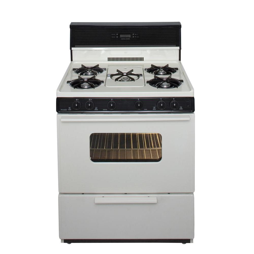 30 in. 3.91 cu. ft. Freestanding Gas Range with 5th Burner