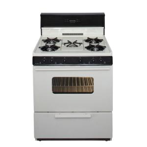 Premier 30 inch 3.91 cu. ft. Freestanding Gas Range with 5th Burner and Griddle Package in Biscuit by Premier