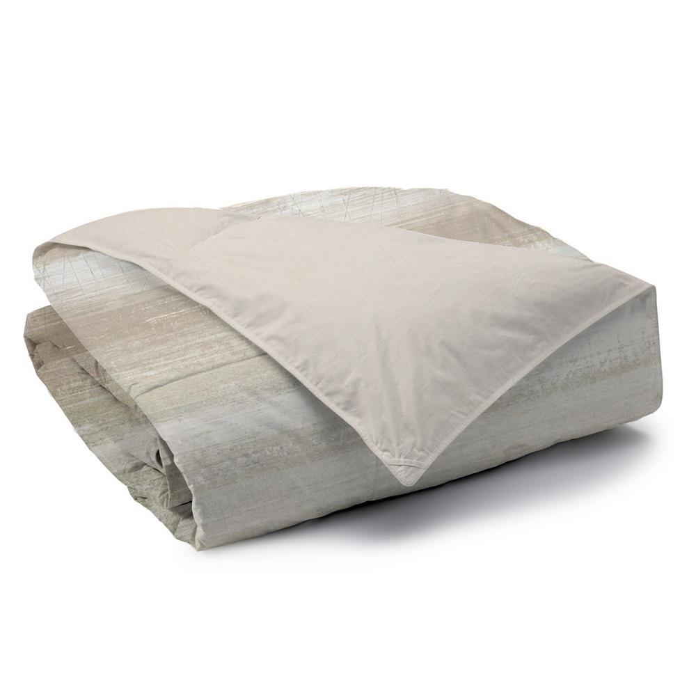 Coastline Reversible Print 100% Organic Cotton Wrinkle Resistant Duvet Set and Insert