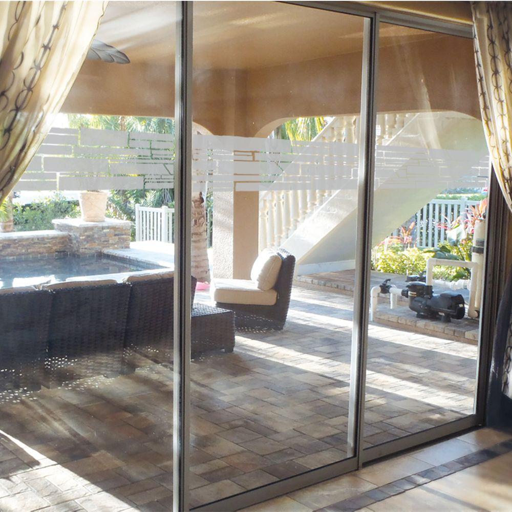0.012 in. x 9 in. Stacked Stone Premium Glass Etch Window Film