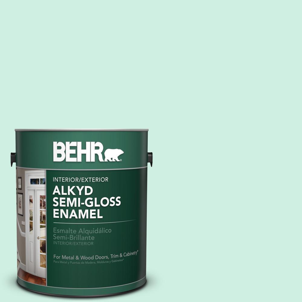 1 gal. #P420-1 Spring Frost Semi-Gloss Enamel Alkyd Interior/Exterior Paint