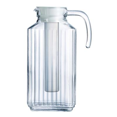 Quadro Jug 57.5 oz. with Infuser And White Lid (Set of 1)
