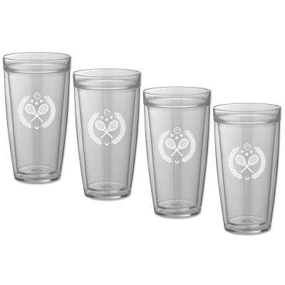 Kasualware Tennis 22 oz. Doublewall Tall Tumbler (Set of 4)