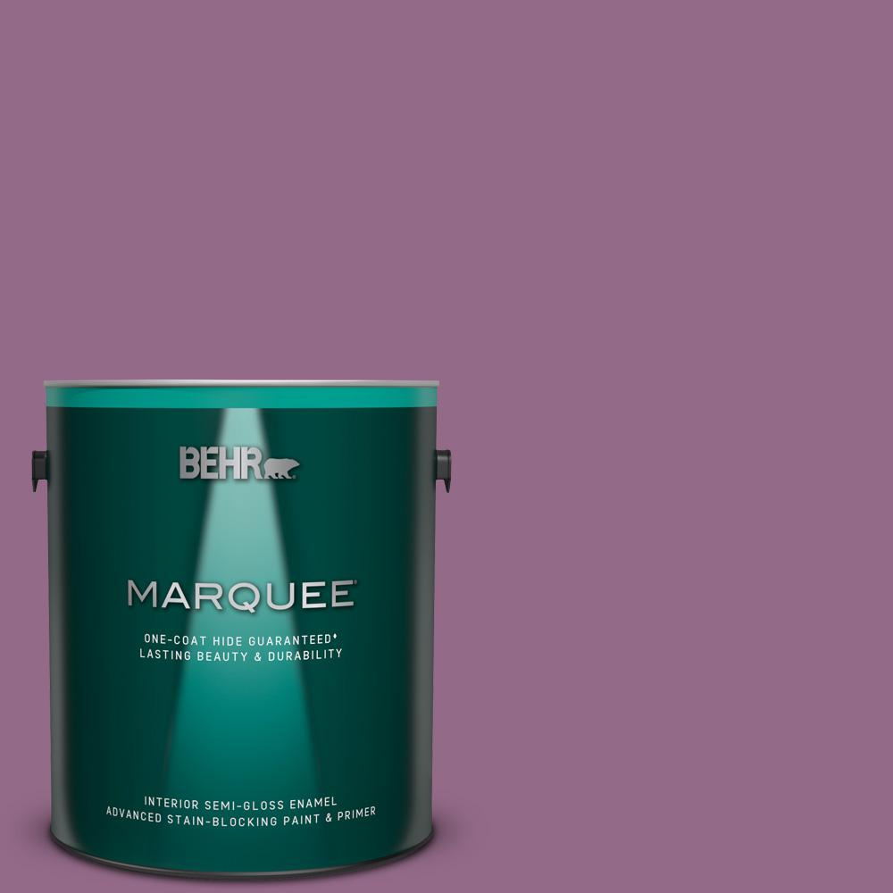 Behr Marquee 1 Gal M110 6 Sophisticated Lilac One Coat Hide Semi Gloss Enamel Interior Paint And Primer In One 345401 The Home Depot
