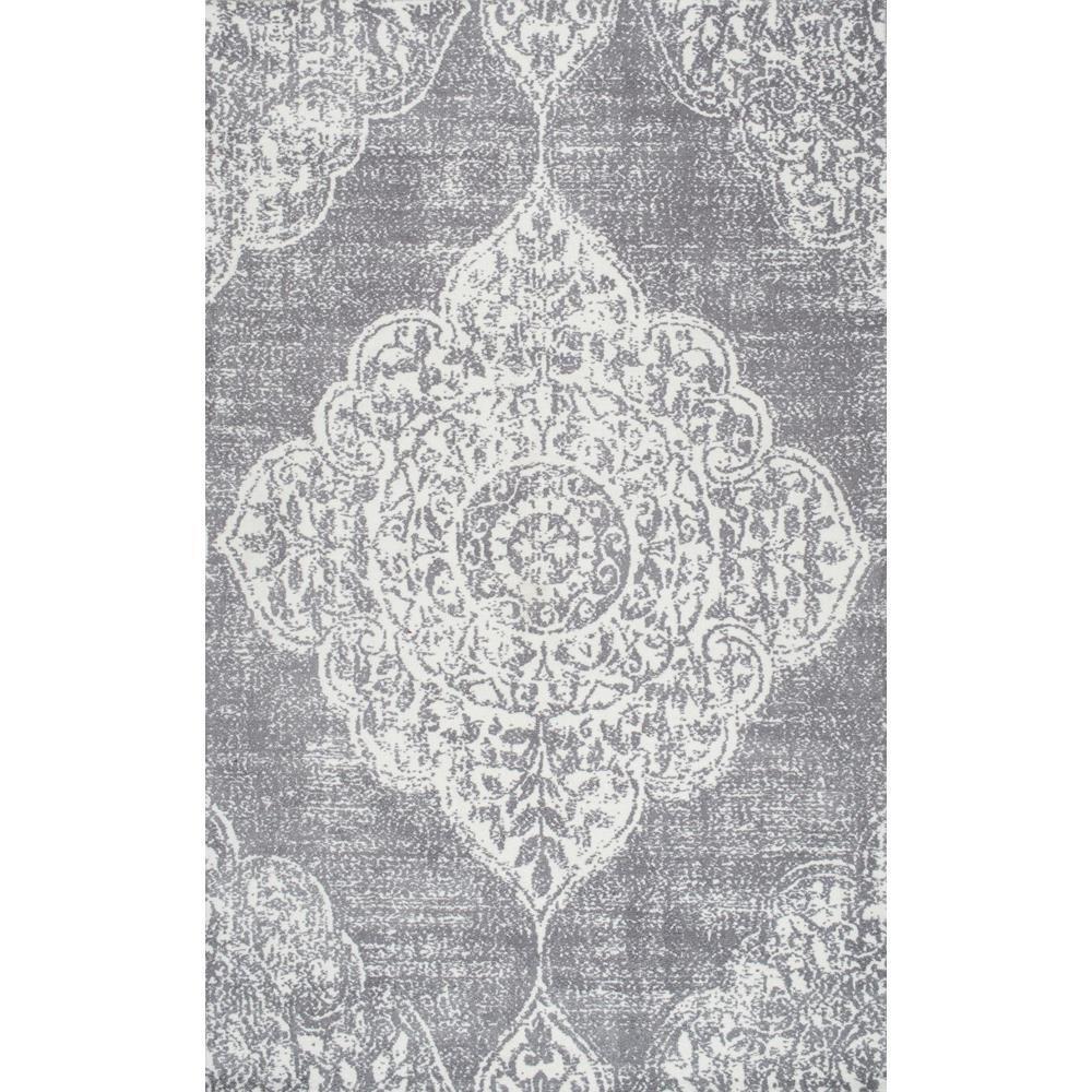 Zoraida Oriental Persian Gray 5 ft. x 8 ft. Area Rug