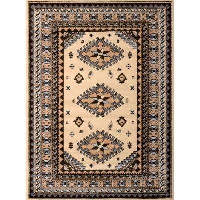 Tres Ivory 8 ft. x 11 ft. Indoor Area Rug
