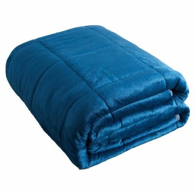 Navy Mink to Mink 20 Lbs. Weighted Blanket
