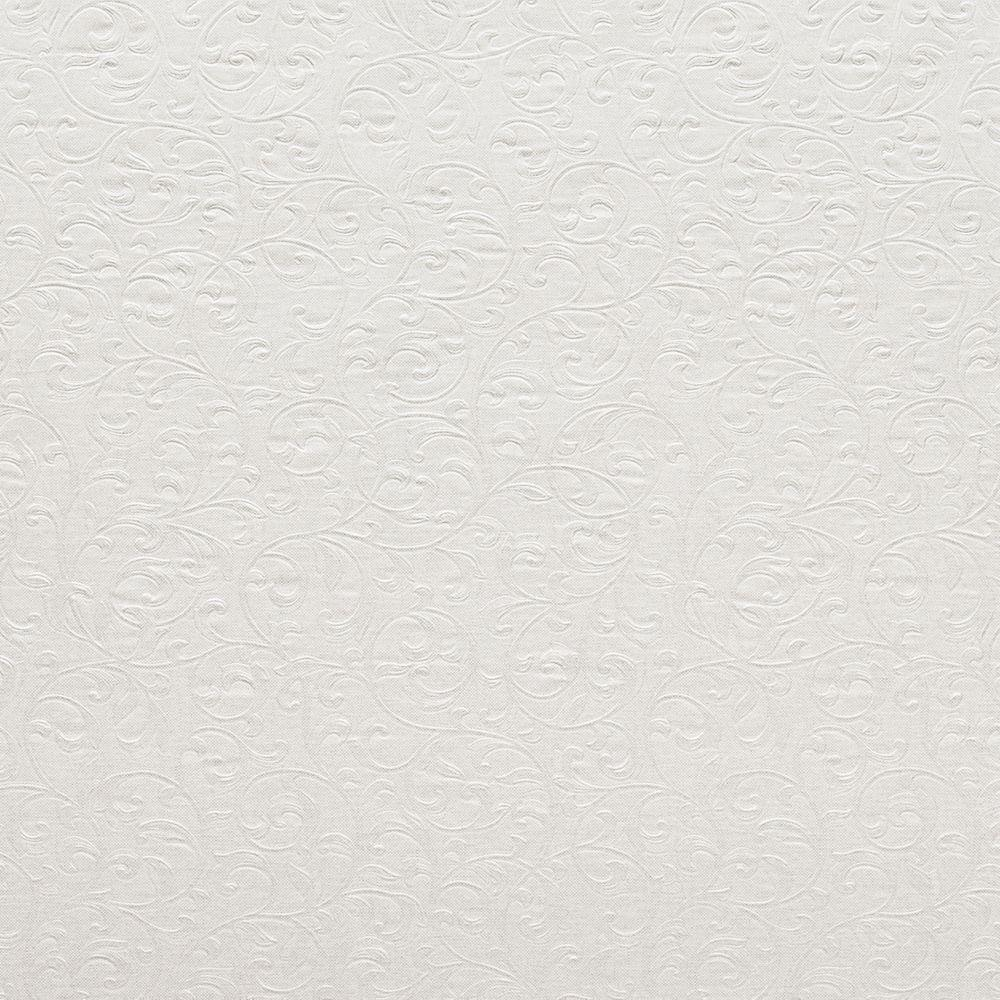 null Carlotta Platinum Textured Scroll Wallpaper