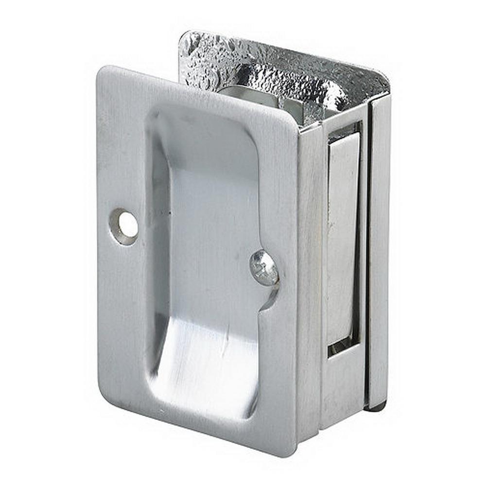Richelieu hardware in brushed chrome pocket door