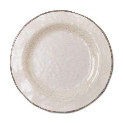 9 in. Veranda Melamine Salad Plates in Ivory (Set of 4)