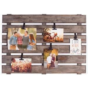 Pinnacle 5-Opening 4 inch x 6 inch Pallet Picture Frame by Pinnacle