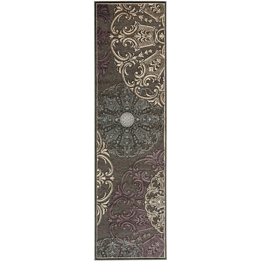 Safavieh Paradise Charcoal/Multi 2 ft. 2 in. x 8 ft. Runner