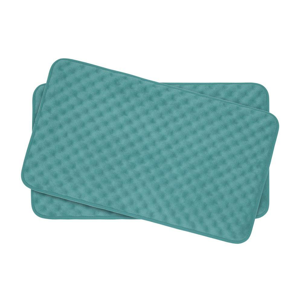 Bouncecomfort Massage Marine Blue 17 In X 24 In Memory