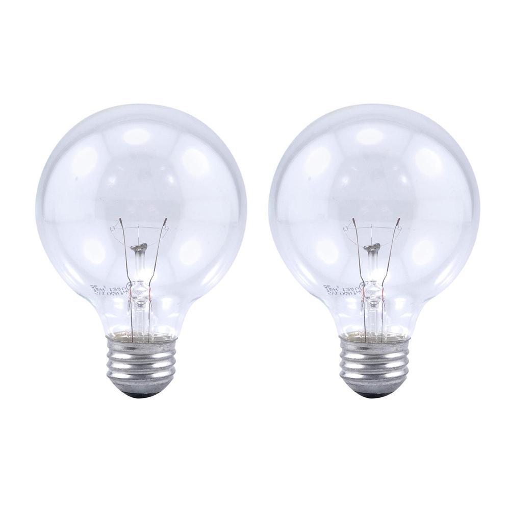 Sylvania 25 Watt Double Life G25 Incandescent Light Bulb 2 Pack 10544 The Home Depot