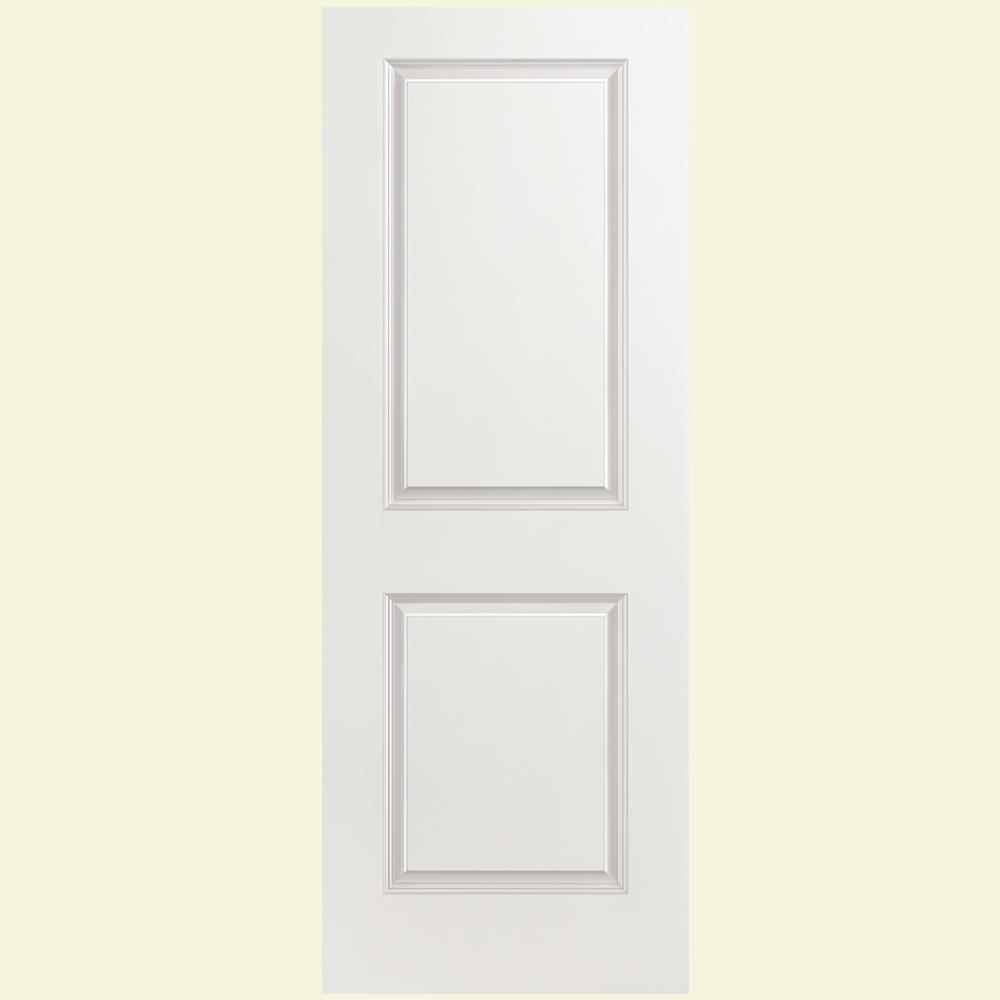 30 in. x 80 in. 2 Panel Square Primed Left-Hand Hollow