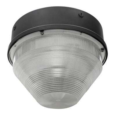 75-Watt 6000 Lumen White Aluminum Integrated LED Flush Mount Canopy Round