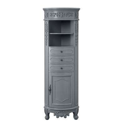 Winslow 22 in. W x 14 in. D x 67.5 in. H Single Door Linen Cabinet in Antique Gray