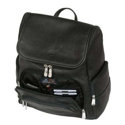 15.6 in. Black Backpack with RFID Secure Pocket for Laptop and Tablet